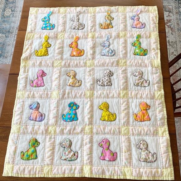 Handstitched baby quilt
